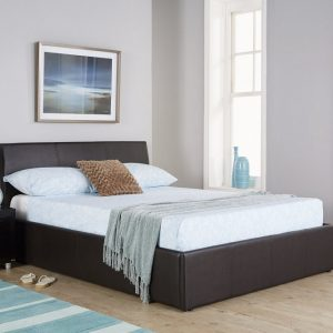 Alaska-Brown-Leather-Ottoman-Bed-Frame