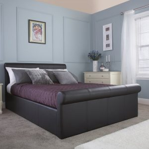 California-Black-Leather-Ottoman-Bed-Frame