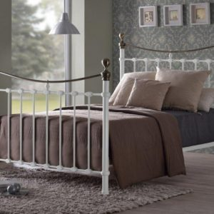 Cyprus-White-Metal-Bed-Frame