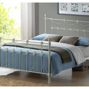 Latvia-Ivory-Metal-Bed-Frame