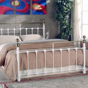 Limelight-Tarvos-White-Metal-Bed-Frame