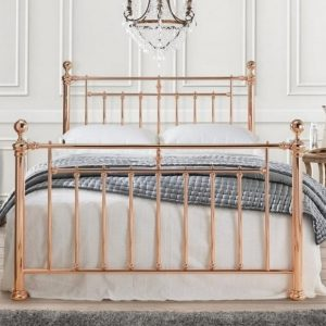 Italy Rose Gold Bed Frame