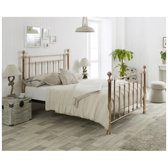 huge discount 01ad9 3fdaa Limelight Libra Rose Gold Double Bed Frame