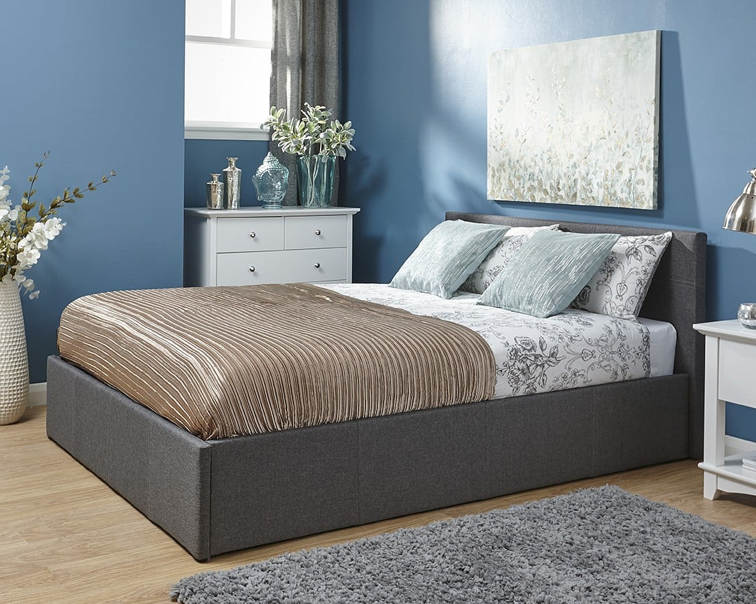 Tremendous King Ohio Grey Ottoman Bed Frame Gmtry Best Dining Table And Chair Ideas Images Gmtryco